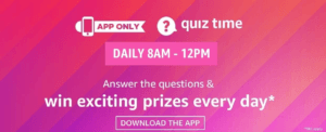 Amazon daily quiz answer
